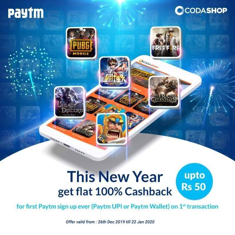 Codashop Paytm offer