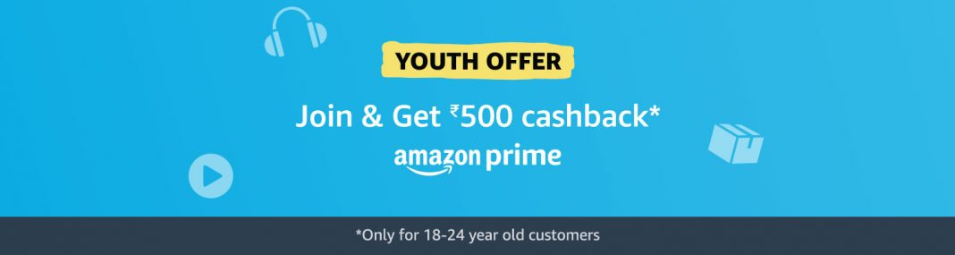 how to get amazon prime at rs 499 or how to avail amazon prime youth offer